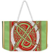 Celtic Christmas Q Initial Weekender Tote Bag