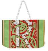 Celtic Christmas R Initial Weekender Tote Bag
