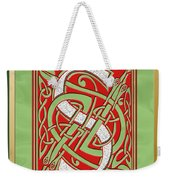 Celtic Christmas S Initial Weekender Tote Bag