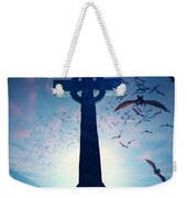 Celtic Cross With Swarm Of Bats Weekender Tote Bag