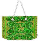 Celtic Irish Clover Home Blessing Weekender Tote Bag