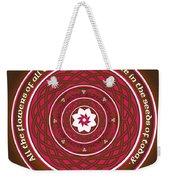 Celtic Lotus Mandala In Pink And Brown Weekender Tote Bag
