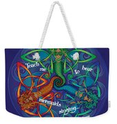 Celtic Mermaid Mandala Weekender Tote Bag