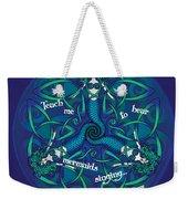 Celtic Mermaid Mandala In Blue And Green Weekender Tote Bag