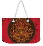 Celtic Pagan Fertility Goddess In Red Weekender Tote Bag