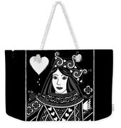Celtic Queen Of Hearts Part I In Black And White Weekender Tote Bag