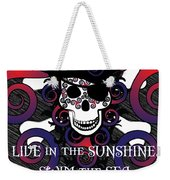 Celtic Spiral Pirate In Blues And Reds Weekender Tote Bag
