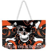 Celtic Spiral Pirate In Orange And Black Weekender Tote Bag