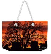 Cemetery Sunset Weekender Tote Bag