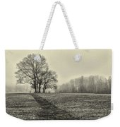 Cemetery Trees In The Fog E185 Weekender Tote Bag