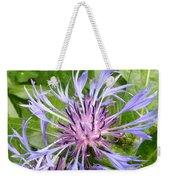 Centaurea Montana Blue Flower Weekender Tote Bag