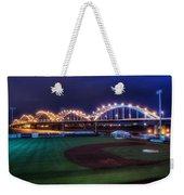 Centennial Bridge And Modern Woodmen Park Weekender Tote Bag by Scott Norris