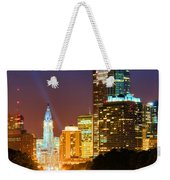 Center City Philadelphia Night Weekender Tote Bag