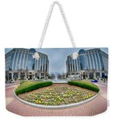 Center Fountain Piece In Piedmont Plaza Charlotte Nc Weekender Tote Bag