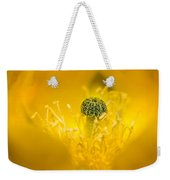 Center Of A Yellow Cactus Flower Weekender Tote Bag