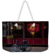 Central Cafe Bicycles Weekender Tote Bag