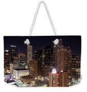 Central Houston At Night Weekender Tote Bag