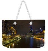 Central Melbourne Skyline In Australia Weekender Tote Bag