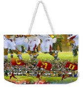 Central Michigan Football Collage Weekender Tote Bag