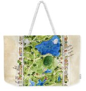 Central Park And All That Surrounds It Weekender Tote Bag