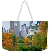 Central Park And Fifth Autumn View Weekender Tote Bag