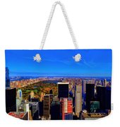 Central Park And New York City In Autumn Weekender Tote Bag