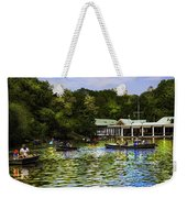 Central Park Boathouse Weekender Tote Bag