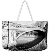Central Park Bridges Bow Bridge Spanning Lake Weekender Tote Bag