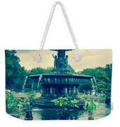 Central Park Fountain Weekender Tote Bag