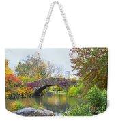 Central Park Gapstow Bridge Autumn II Weekender Tote Bag
