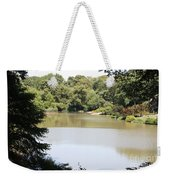 Central Park Lake Weekender Tote Bag