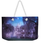 Central Park Lake Willows Color Weekender Tote Bag