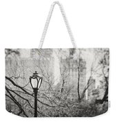 Central Park Lamppost In New York City Weekender Tote Bag