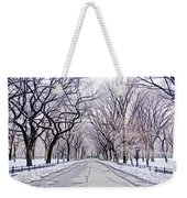 Central Park Mall In Winter Weekender Tote Bag