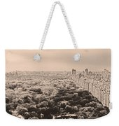 Central Park Pano Sepia Weekender Tote Bag