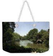 Central Park Pond Weekender Tote Bag