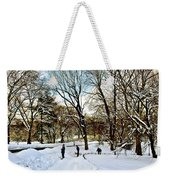 Central Park Snow Storm One Day Later2 Weekender Tote Bag