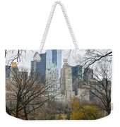 Central Park South Buildings From Central Park Weekender Tote Bag
