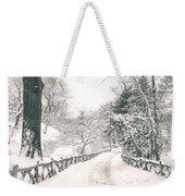 Central Park Winter Landscape Weekender Tote Bag
