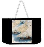 Centurion Trawl Fishing Boat Nautical Chart Art Weekender Tote Bag