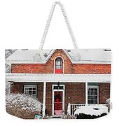 Century Home With Christmas Wreath Weekender Tote Bag