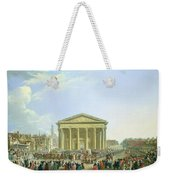 Ceremony Of Laying The First Stone Of The New Church Of St. Genevieve In 1763, 1764 Oil On Canvas Weekender Tote Bag