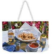 Cervezas Y Nachos - Coronas With Nachos Weekender Tote Bag