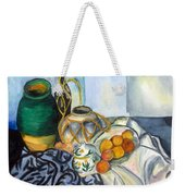 Cezanne Still Life With Apples In Watercolor Weekender Tote Bag