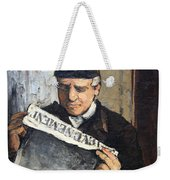 Cezanne's Father Reading Le Evenement Weekender Tote Bag