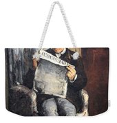 Cezanne's The Artist's Father Reading Le Evenement Weekender Tote Bag