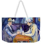 Cezannes The Card Players In Watercolor Weekender Tote Bag