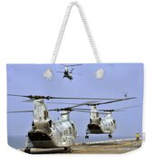 Ch-46e Sea Knight Helicopters Take Weekender Tote Bag