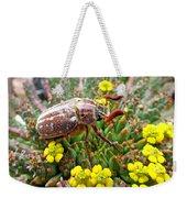 Chafer Beetle On Medusa Succulent Weekender Tote Bag
