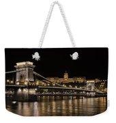 Chain Bridge And Buda Castle Winter Night Weekender Tote Bag